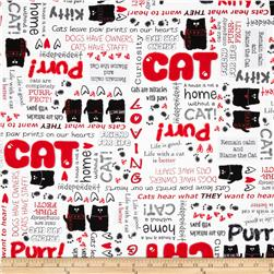 Kanvas Smudgy Cat Cat Talk Red