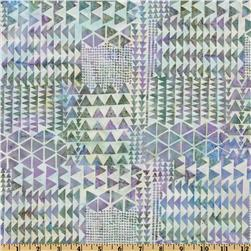 Bali Batik Triangles Abalone Purple