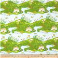 Heather Ross Briar Rose Frog Pond Blue/Green