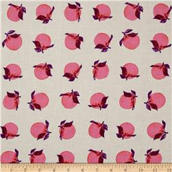 Cotton + Steel Fruit Dots Peaches Pink