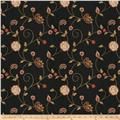 Fabricut Alamak Embroidered Shantung Black