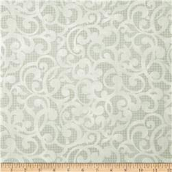 "Filigree 108"" Wide Quilt Backing Grey"