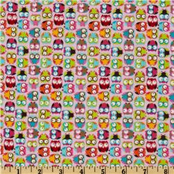 Timeless Treasures Mini Owls Pink Fabric