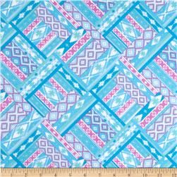 Flannel Aztec Blue Multi