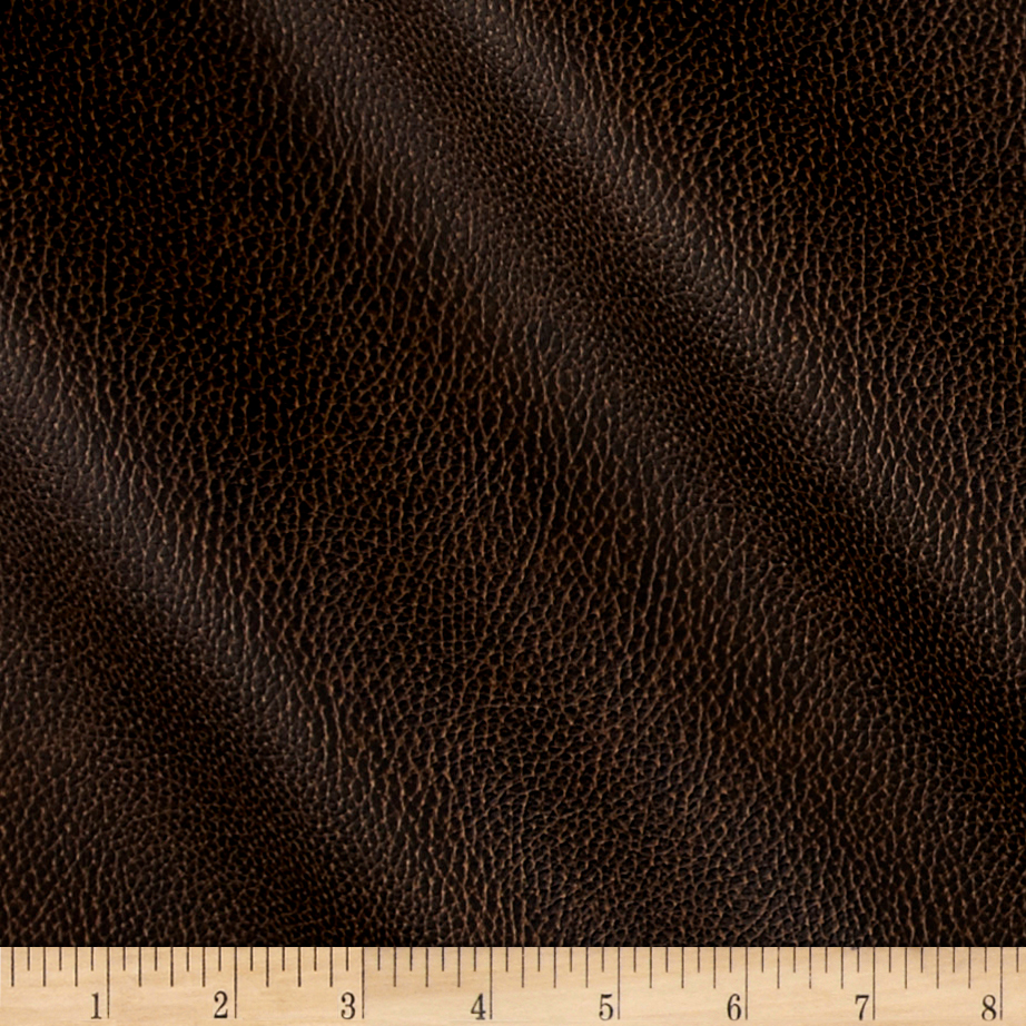 Richloom Tough Faux Leather Bryant Chestnut Fabric by TNT in USA