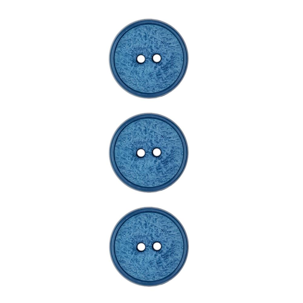 Dill Novelty Button 5/8'' Textured Royal Blue