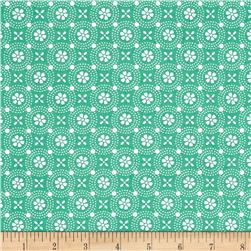 Maywood Studio Kimberbell Basics Dotted Circles Teal