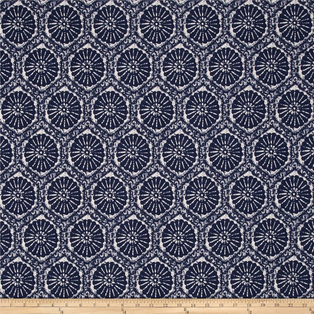 Tempo Indoor/Outdoor Suzani Tapestry Navy