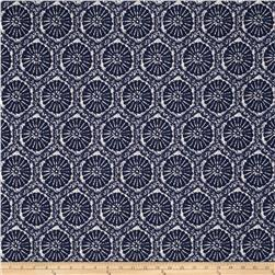 Tempo Indoor/Outdoor Suzani Tapestry Navy Fabric