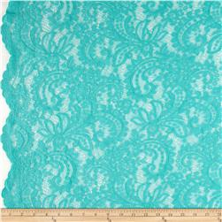 Amelia Stretch Lace Aqua