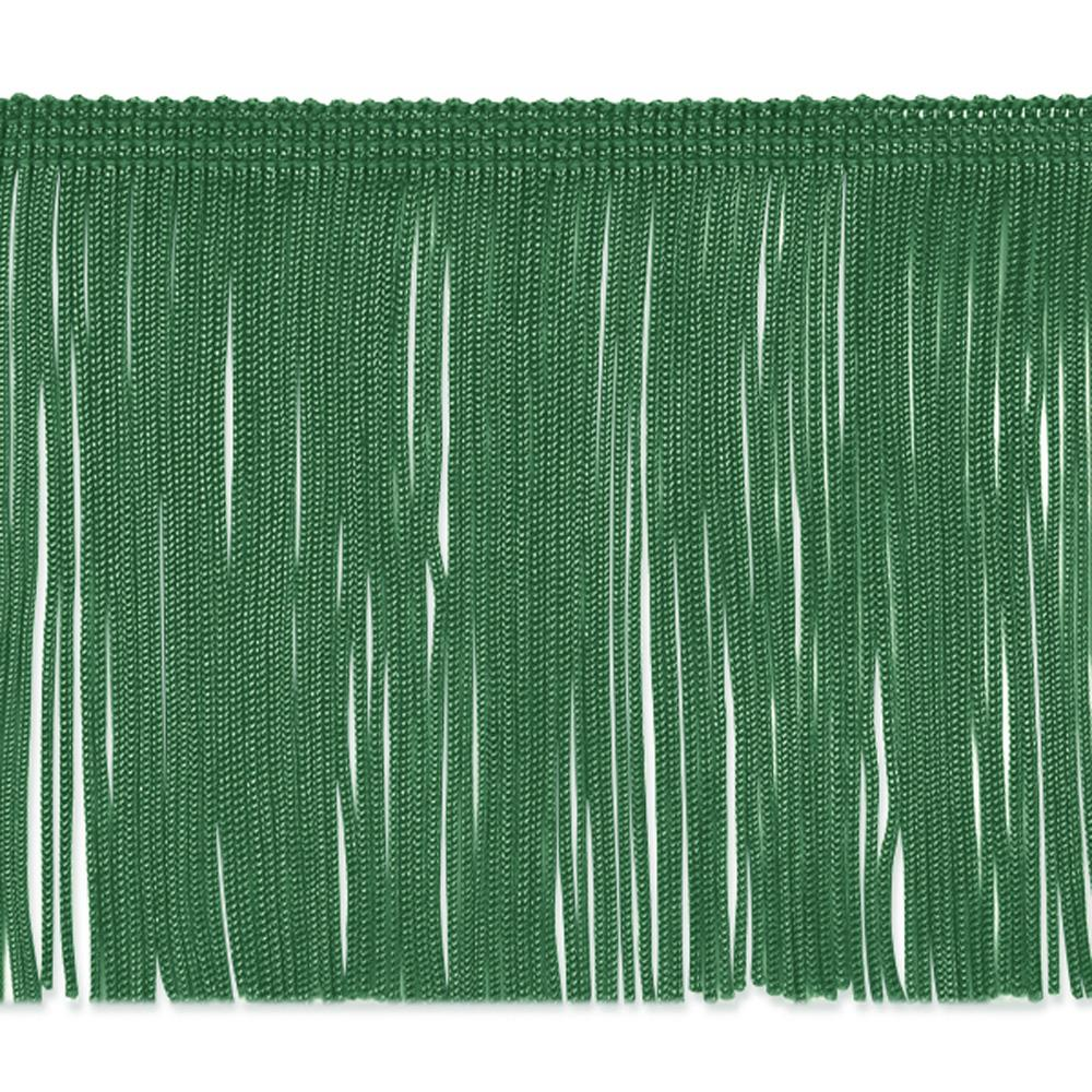 "4"" Chainette Fringe Trim Emerald"