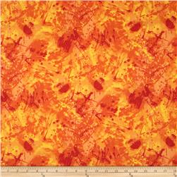 Timeless Treasures Fantasia Splatter Orange