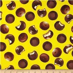 Kanvas Snack Attack Marshmallow Cookie Yellow Fabric