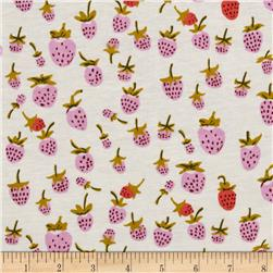 Heather Ross Briar Rose Cotton Jersey Knit Strawberry Lilac