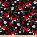 Kanvas Winter Story Red Cardinal Black