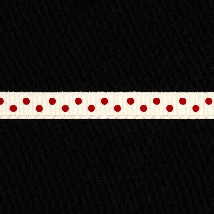 "1/4"" Grosgrain Ribbon Mini Dot Red"