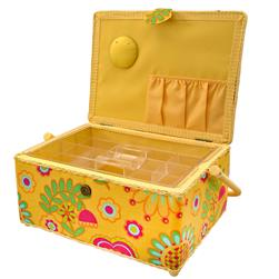 Sewing Basket Rectangle Yellow