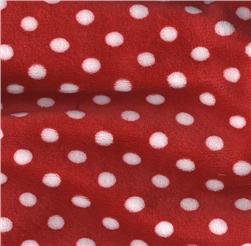 Minky Cuddle Mini Polka Dots Red/White