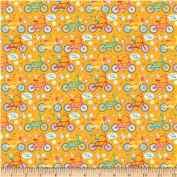 Riley Blake Girl Crazy Bikes Orange