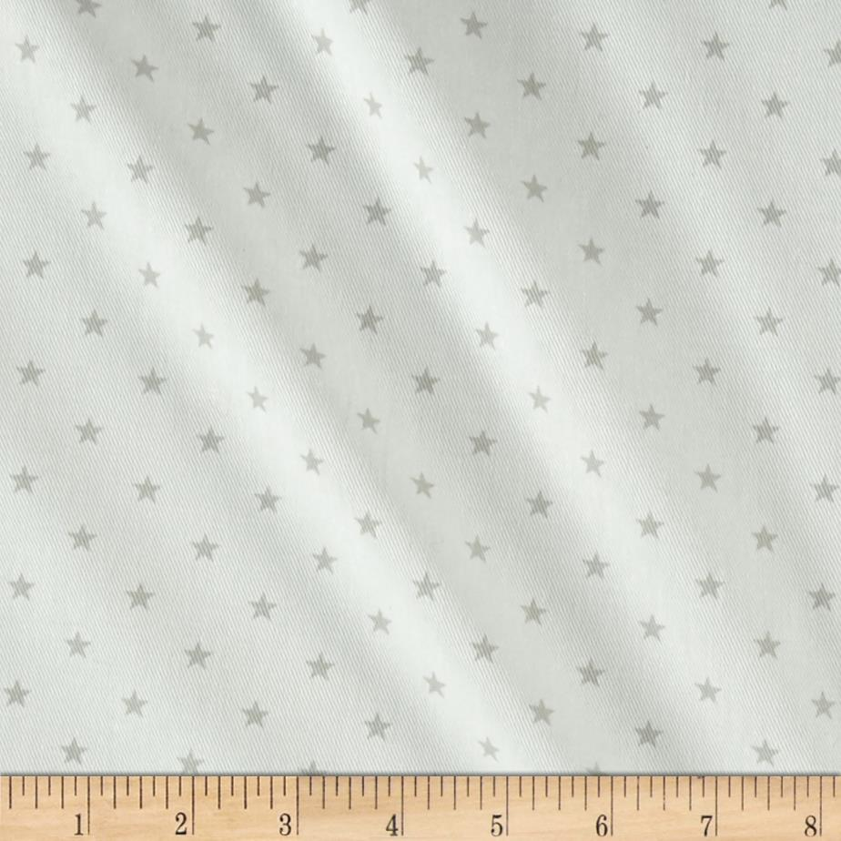 Premier Prints Mini Star Twill White/French Gray