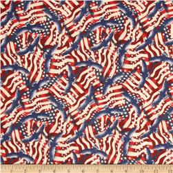 Stars & Stripes II Packed Flags and Eagles Red/White/Blue