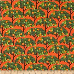 Kanvas Sew Rousseau Orange Trees Orange Fabric