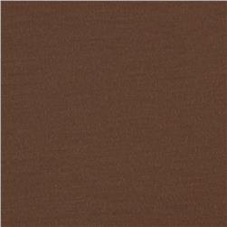 Rayon Poly Jersey Knit Solid Brown