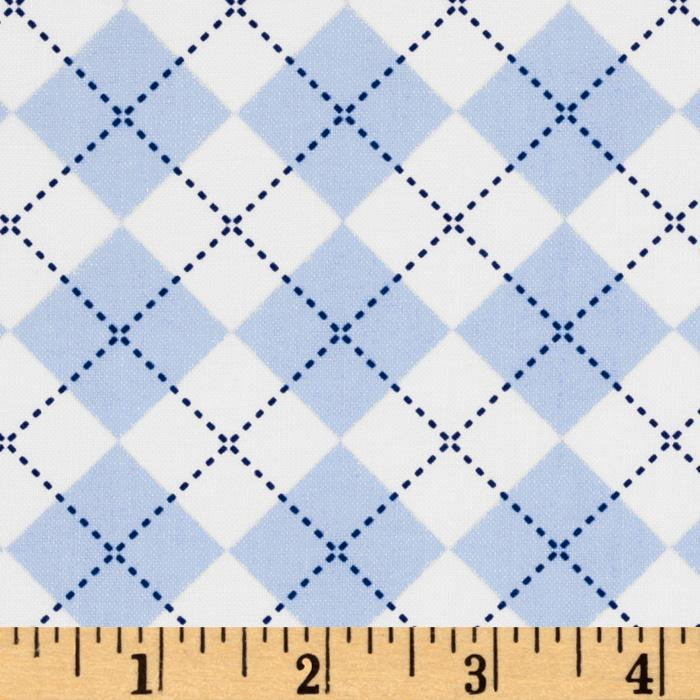 Remix Argyle Blue/White