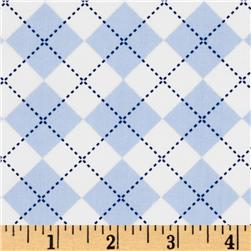 Remix Argyle Blue/White Fabric