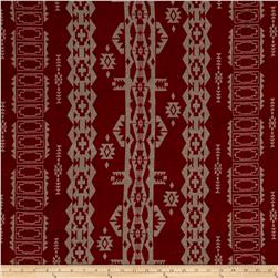 Hatchi Lightweight Sweater Knit Tribal Signs Maroon