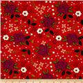 Camelot Enchanted Floral Red-Orange