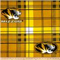 University of Missouri Fleece Plaid Gold