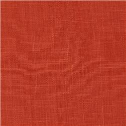European 100% Linen Majestic Orange Fabric