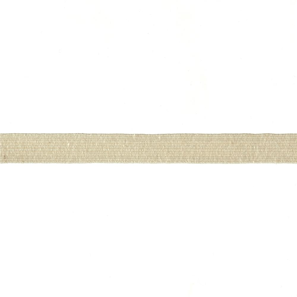 "3/8"" Cotton Swimwear Elastic Natural - By the Yard"