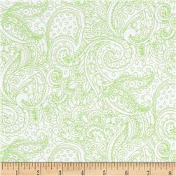 Cypress Paisley Toile White/Lime