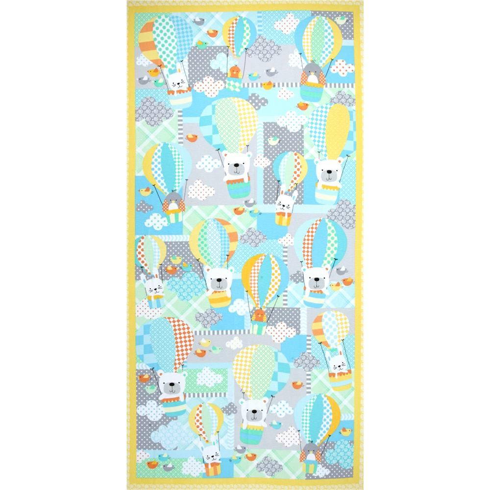 Kanvas Breezy Flannel  24 Inch Panel Sunshine Fabric