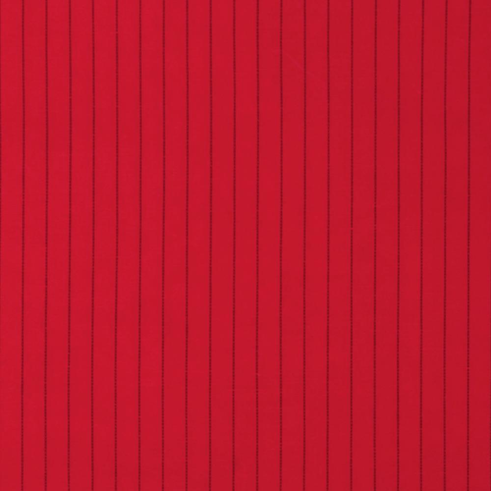 Stretch Pinstripe Poplin Red/Black