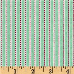 Riley Blake Backyard Roses Stripe Mint