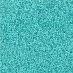 Cotton Blend Micro Stretch Terry Cloth Knit Seafoam