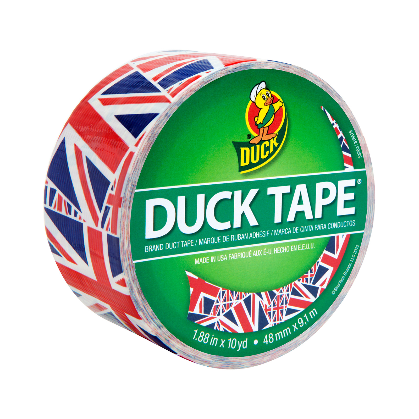 Patterned Duck Tape 1.88'' x 10yd-Union Jack by Notions Marketing in USA