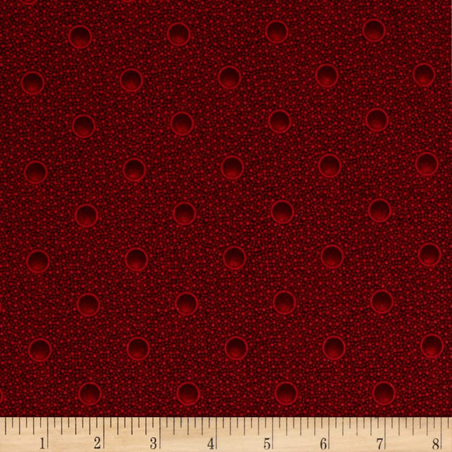 Cozies Flannel Christmas Bubbles Red
