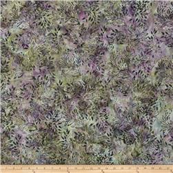 Bali Batiks Handpaints Flower & Leaf Crocus