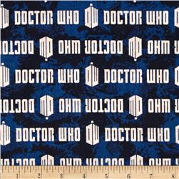 Doctor Who Logo Stripe Blue