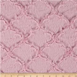 Minky Soft Lattice Cuddle Baby Pink Fabric