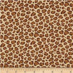 Flannel Leopard Print Brown
