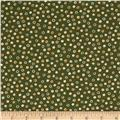 Thimbleberries Block Party Tossed Dots Green