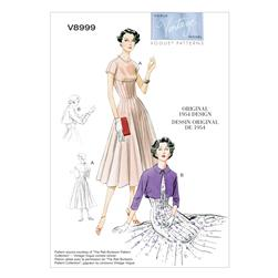 Vogue Misses' Dress and Bolero Pattern V8999 Size A50