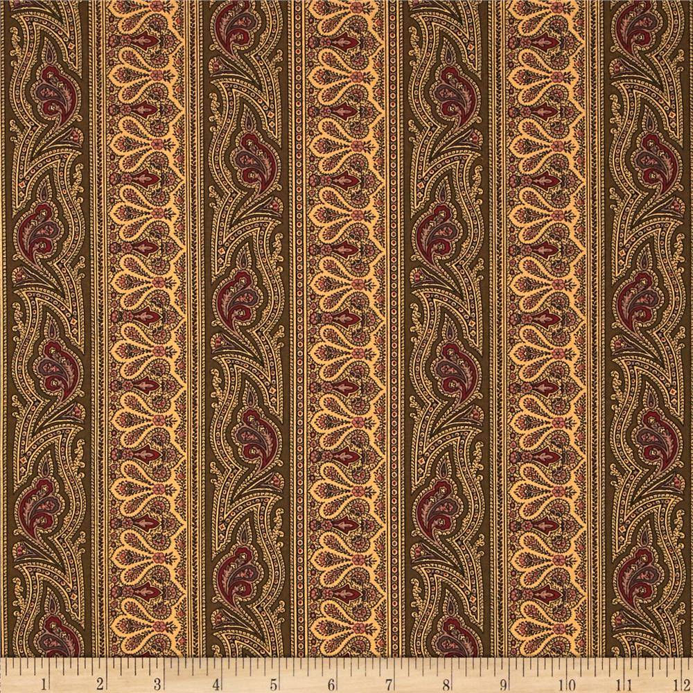 Moda Collections for a Cause Mill Book 1892 Border Stripe Walnut