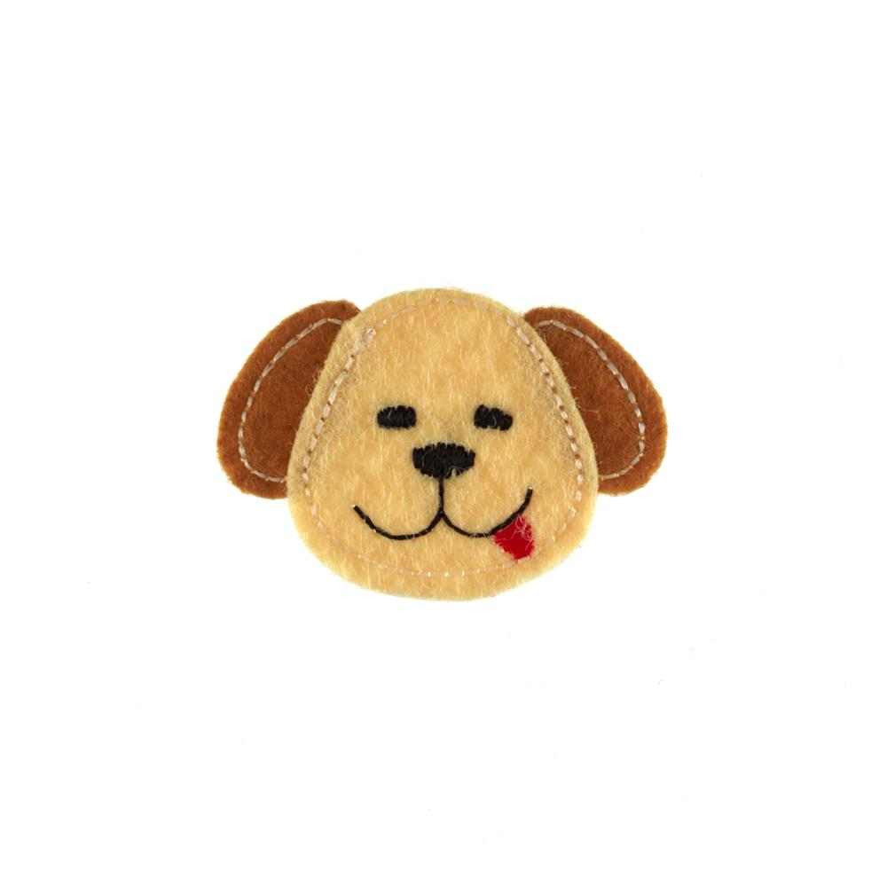 Dog Face Applique Tan