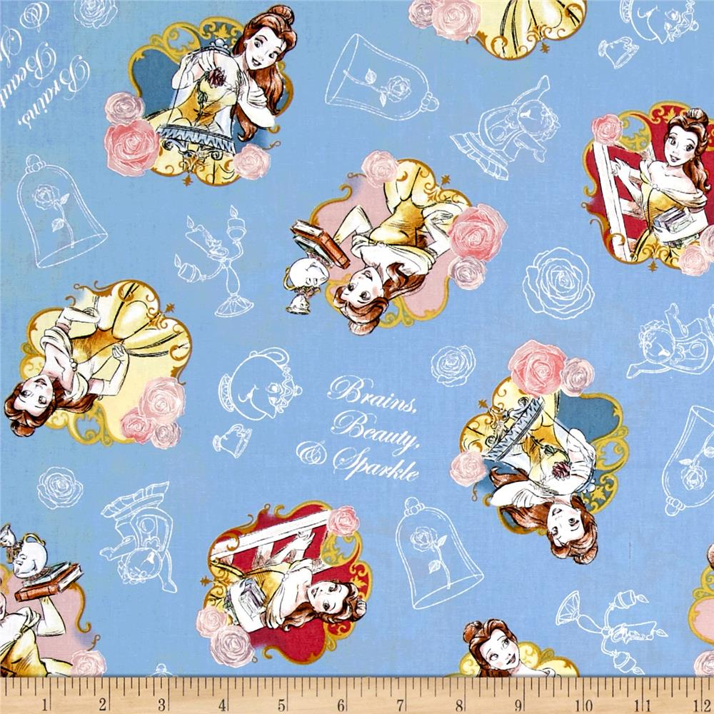 Disney Beauty And The Beast Belle Brains, Beauty And Sparkle Multi    Discount Designer Fabric   Fabric.com